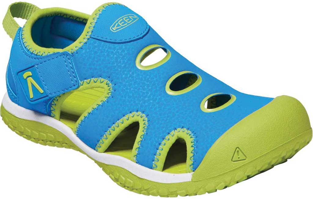 Children's KEEN Stingray Slip On Sneaker - Little Kid, Brilliant Blue/Chartreuse, large, image 1