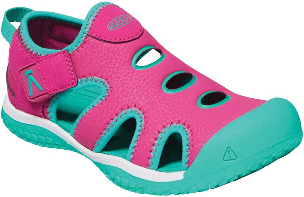 Children's KEEN Stingray Slip On Sneaker - Youth, Very Berry/Peacock Green, large, image 1