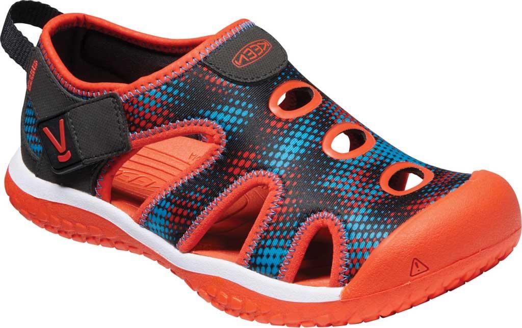 Children's KEEN Stingray Slip On Sneaker - Youth, Black/Orange, large, image 1
