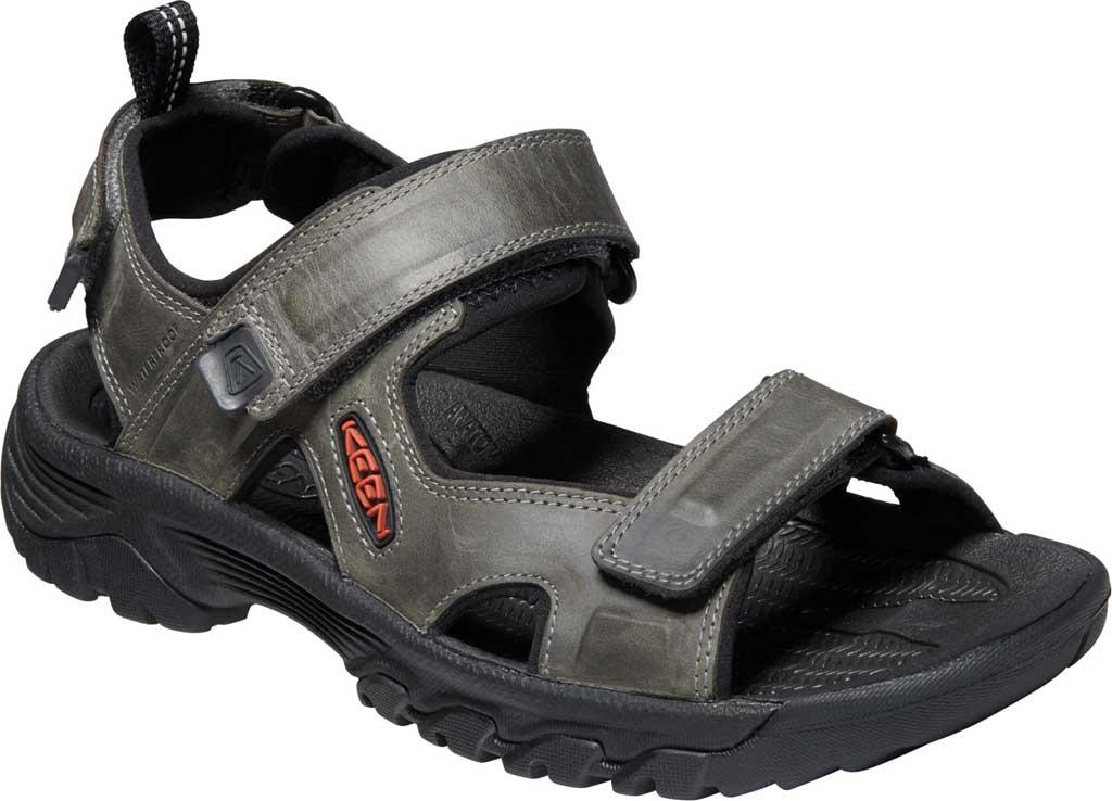 Men's Keen Targhee III Waterproof Hiking Sandal, Grey/Black, large, image 1