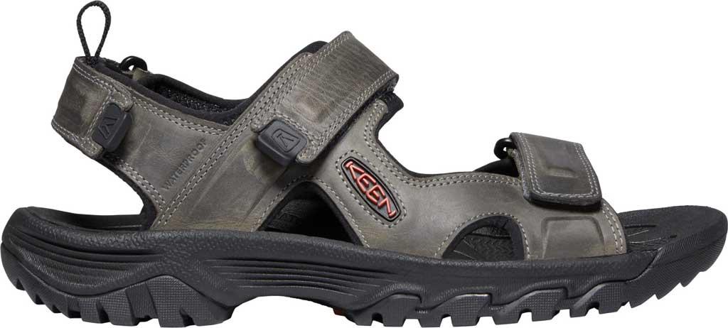 Men's Keen Targhee III Waterproof Hiking Sandal, Grey/Black, large, image 2