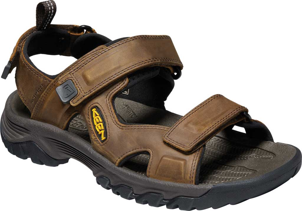 Men's KEEN Targhee III Waterproof Hiking Sandal, Bison/Mulch, large, image 1