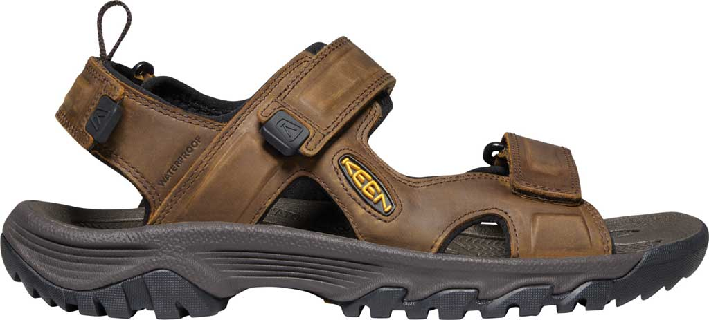 Men's KEEN Targhee III Waterproof Hiking Sandal, Bison/Mulch, large, image 2