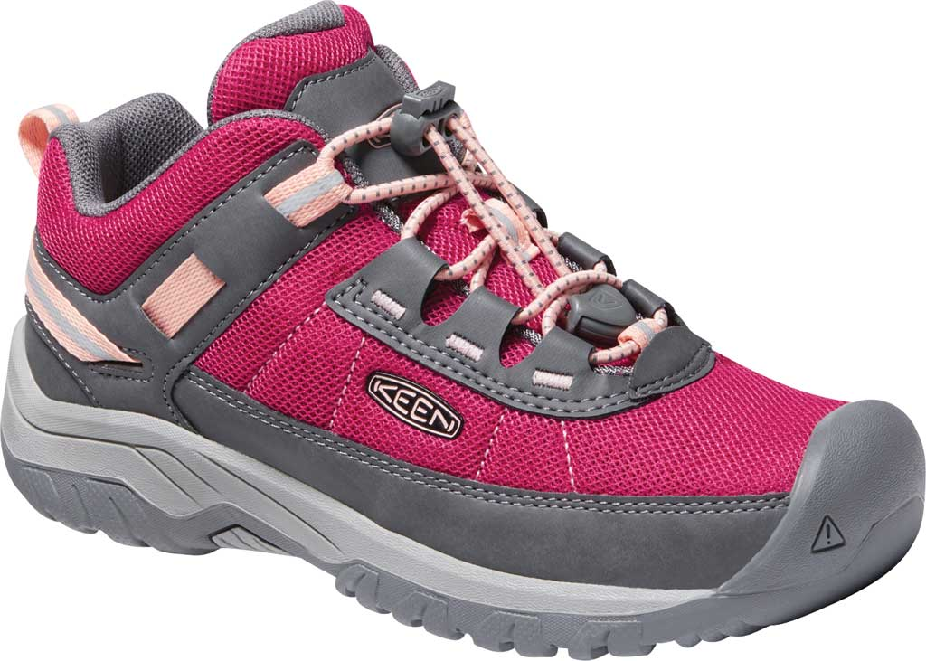 Children's Keen Targhee Hiking Shoe - Youth, Pink Peacock/Peach Pearl, large, image 1