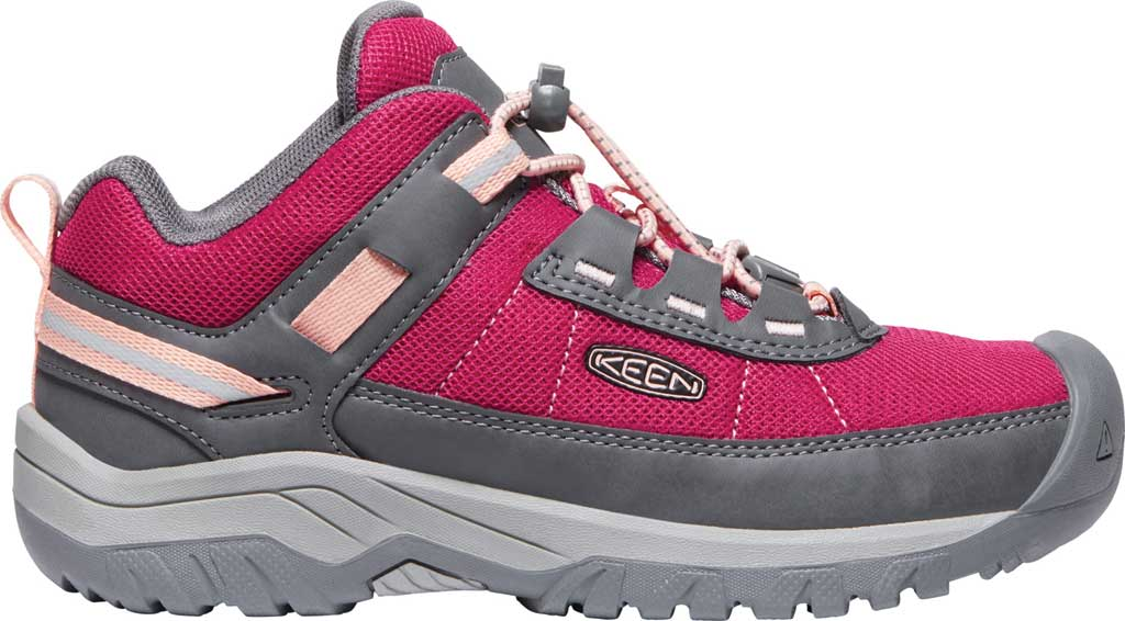 Children's Keen Targhee Hiking Shoe - Youth, Pink Peacock/Peach Pearl, large, image 2
