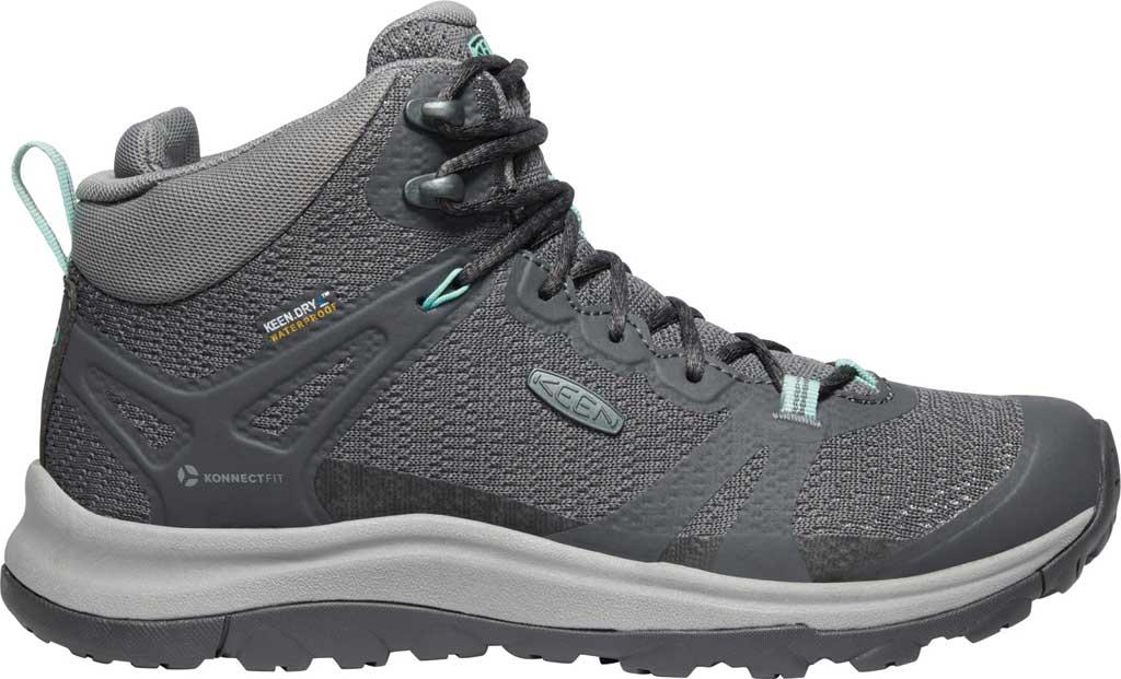 Women's KEEN Terradora II Mid Waterproof Hiking Boot, Magnet/Ocean Wave, large, image 2