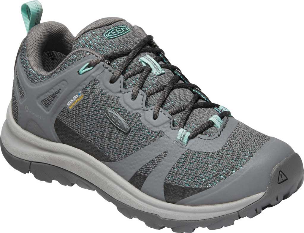 Women's KEEN Terradora II Waterproof Trail Shoe, Steel Grey/Ocean Wave, large, image 1