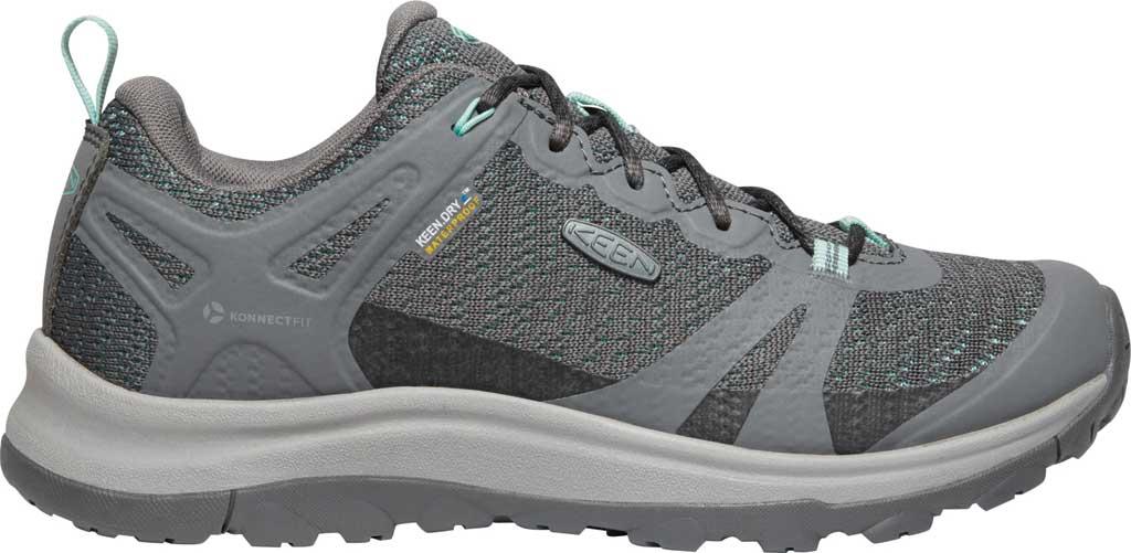 Women's KEEN Terradora II Waterproof Trail Shoe, Steel Grey/Ocean Wave, large, image 2