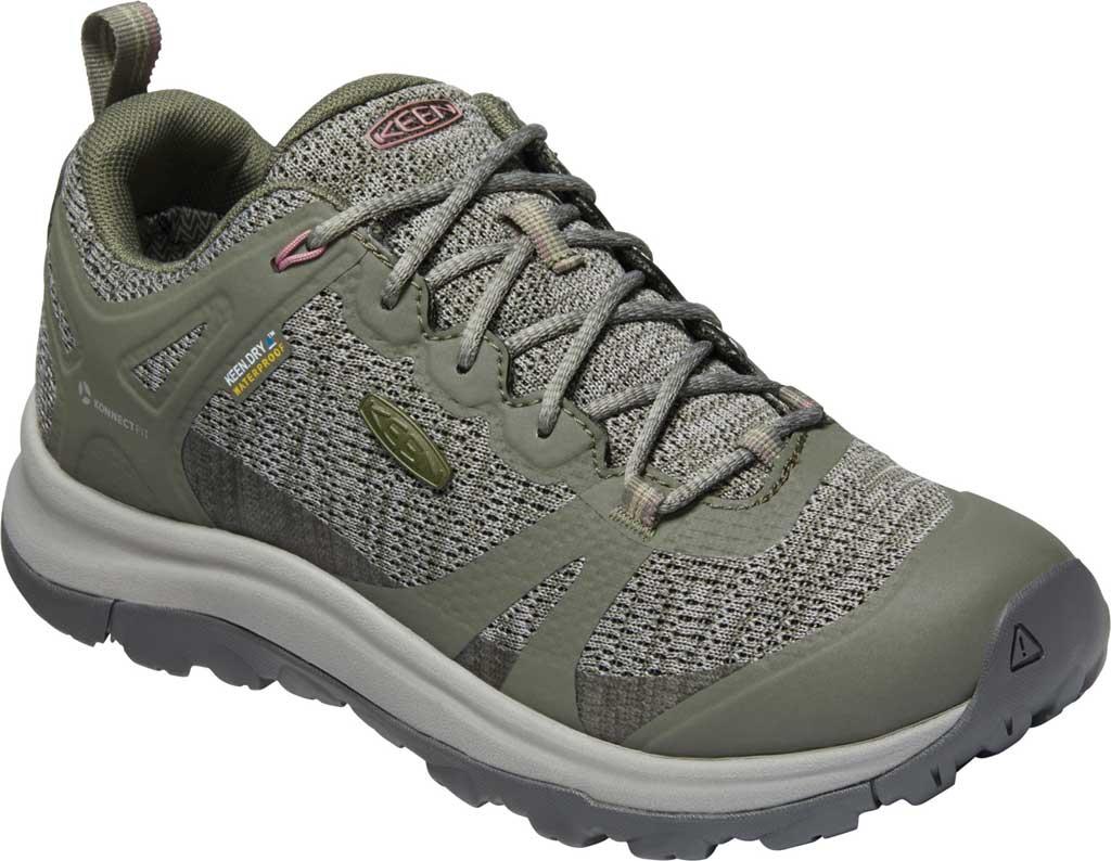 Women's KEEN Terradora II Waterproof Trail Shoe, Dusty Olive/Nostalgia Rose, large, image 1