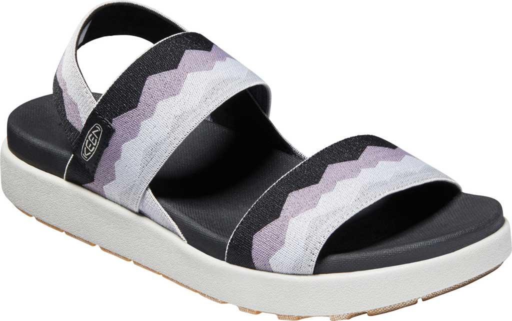 Women's KEEN Elle Backstrap Active Sandal, Black/Thistle, large, image 1