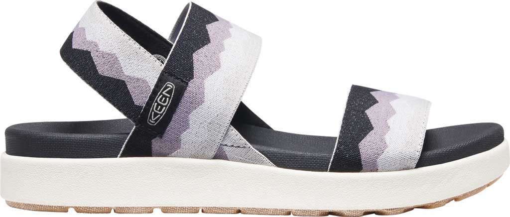 Women's KEEN Elle Backstrap Active Sandal, Black/Thistle, large, image 2