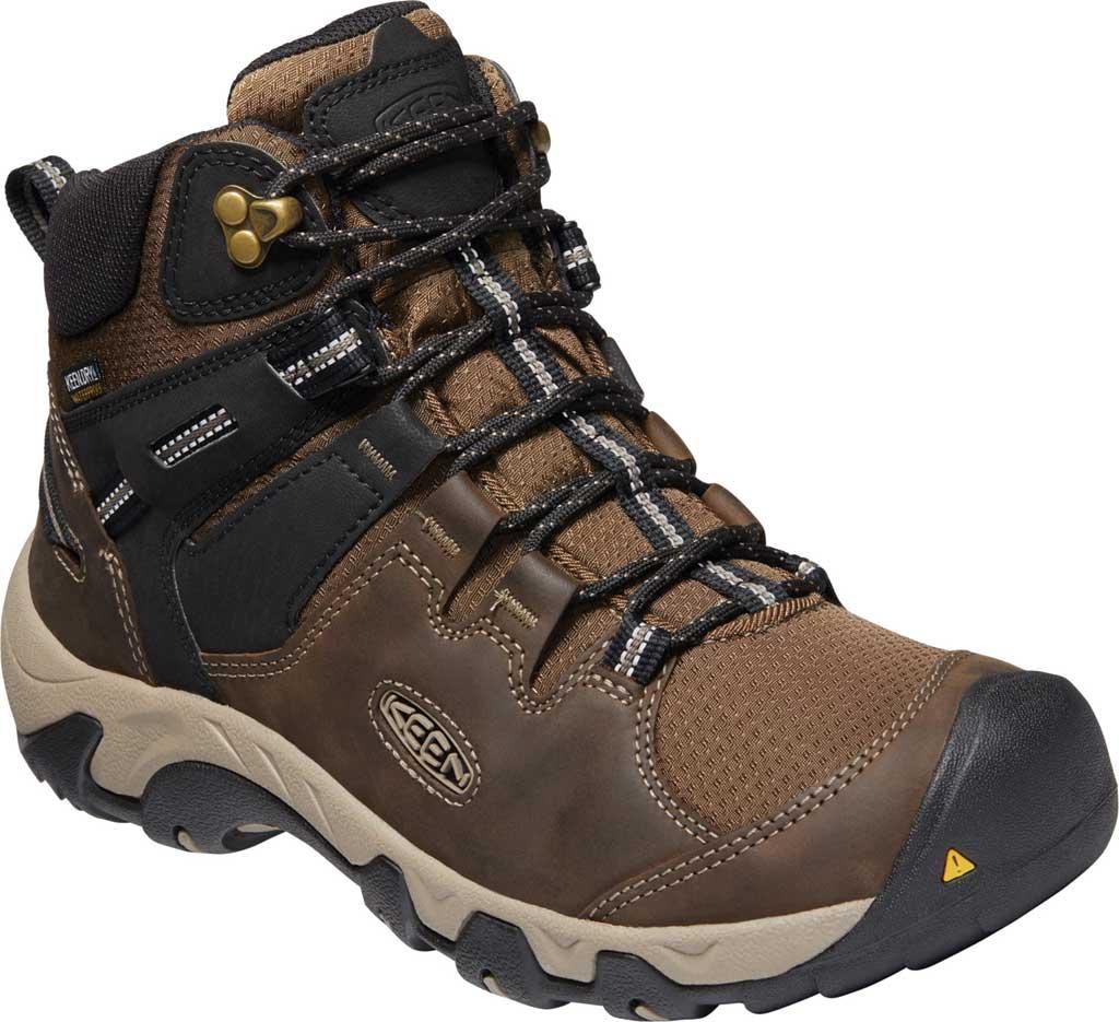 Men's KEEN Steens Mid Waterproof Hiking Boot, Canteen/Black, large, image 1