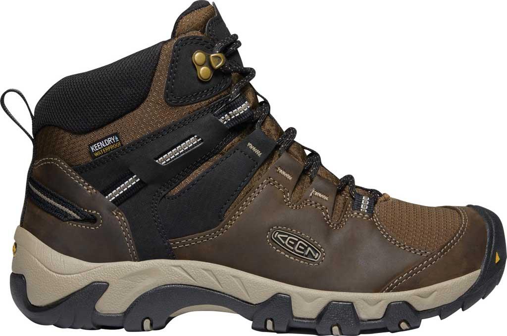 Men's KEEN Steens Mid Waterproof Hiking Boot, Canteen/Black, large, image 2