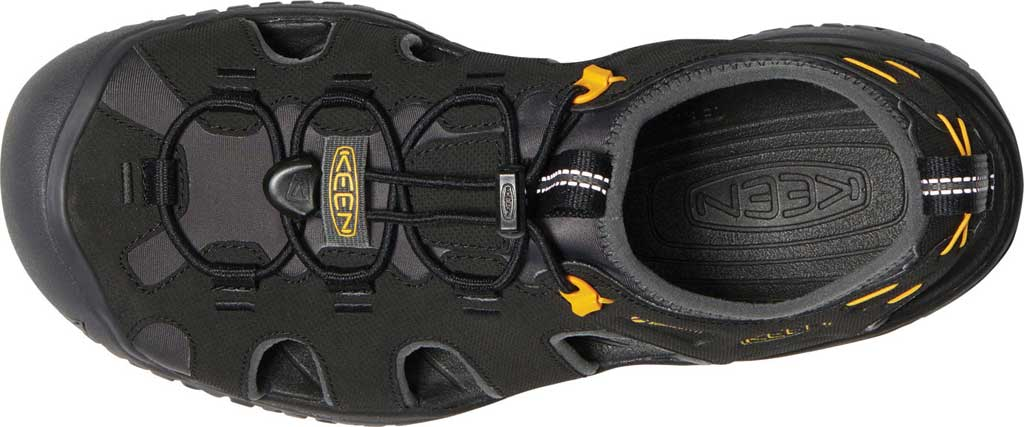 Men's KEEN Solr Fisherman Sandal, Black/Gold, large, image 3