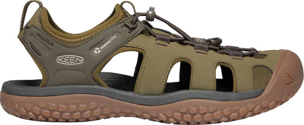 Men's KEEN Solr Fisherman Sandal, Dark Olive/Taupe, large, image 2