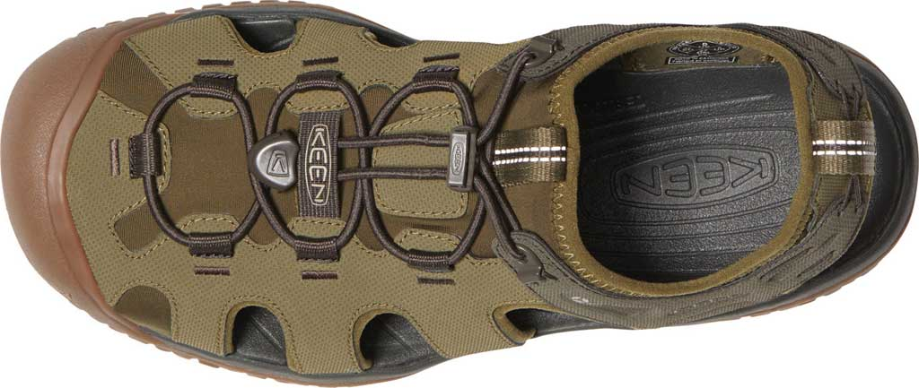 Men's KEEN Solr Fisherman Sandal, Dark Olive/Taupe, large, image 3