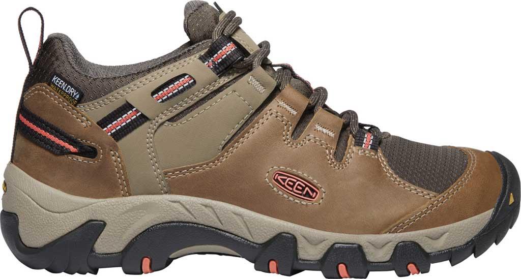 Women's Keen Steens Waterproof Hiking Boot, Timberwolf/Coral, large, image 2