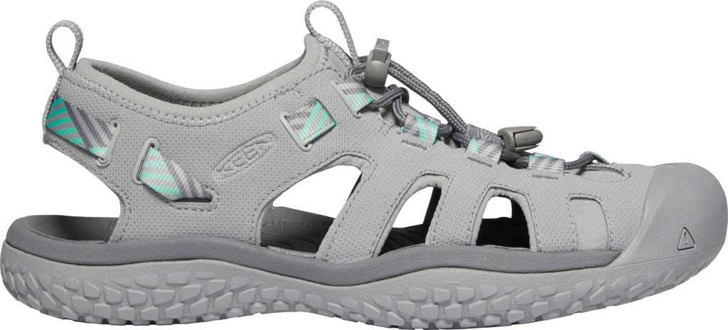 Women's Keen Solr Fisherman Sandal, Light Gray/Ocean Wave, large, image 2