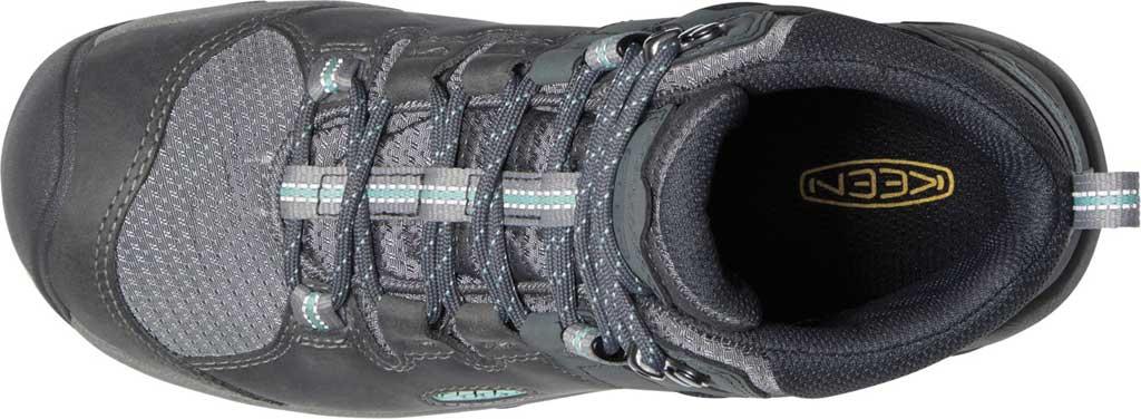 Women's KEEN Steens Mid Waterproof Hiking Boot, Steel Grey/Ocean Wave, large, image 3