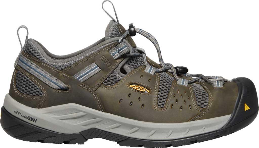 Men's KEEN Utility Atlanta Cool II ESD Steel Toe Work Shoe, Gargoyle/Midnight Navy Leather/Mesh, large, image 2