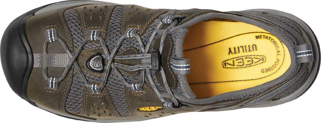 Men's KEEN Utility Atlanta Cool II ESD Steel Toe Work Shoe, Gargoyle/Midnight Navy Leather/Mesh, large, image 3