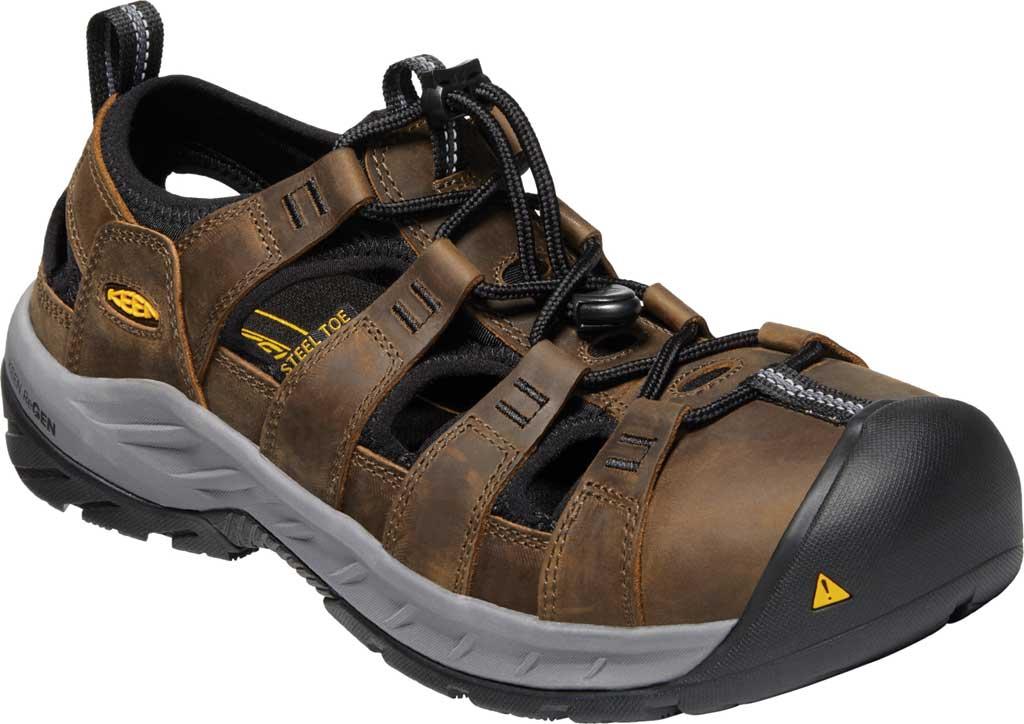 Men's KEEN Utility Atlanta II Cooler Steel Toe Sandal, Cascade Brown/Black Leather, large, image 1