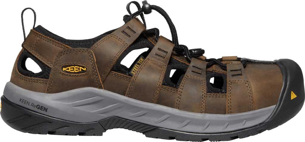 Men's KEEN Utility Atlanta II Cooler Steel Toe Sandal, Cascade Brown/Black Leather, large, image 2