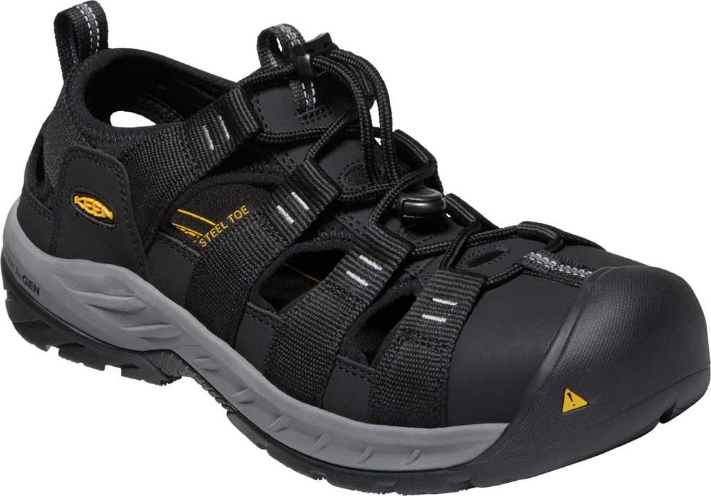 Men's KEEN Utility Atlanta II Cooler Steel Toe Sandal, Black/Steel Grey Synthetic/Mesh, large, image 1