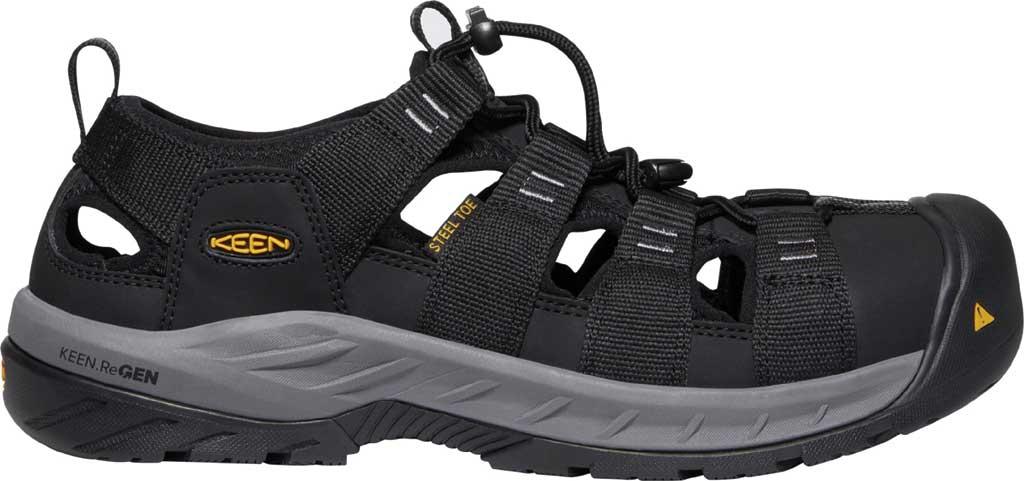 Men's KEEN Utility Atlanta II Cooler Steel Toe Sandal, Black/Steel Grey Synthetic/Mesh, large, image 2
