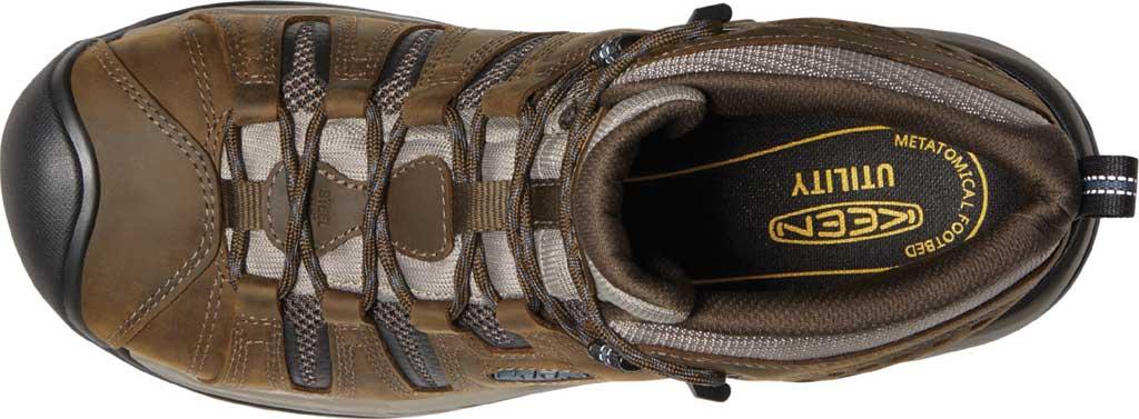 Men's KEEN Utility Flint II Mid Waterproof Steel Toe Work Boot, Cascade Brown/Orion Blue Leather/Mesh, large, image 3