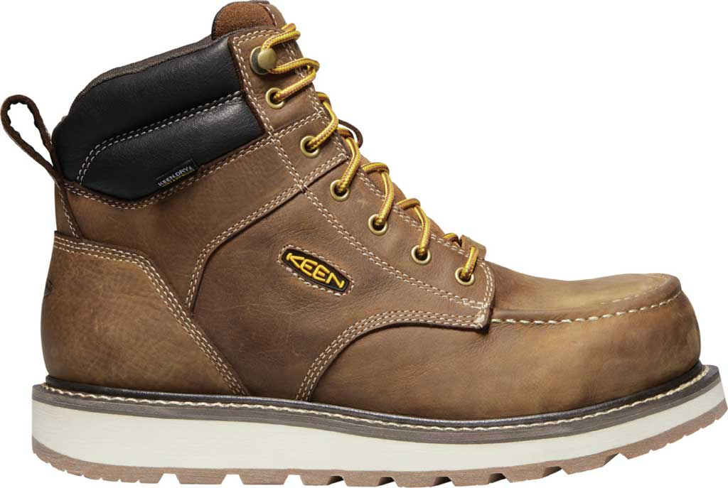 "Men's KEEN Utility Cincinnati 6"" Waterproof Carbon Toe Work Boot, Belgian/Sandshell Full Grain Waterproof Leather, large, image 2"