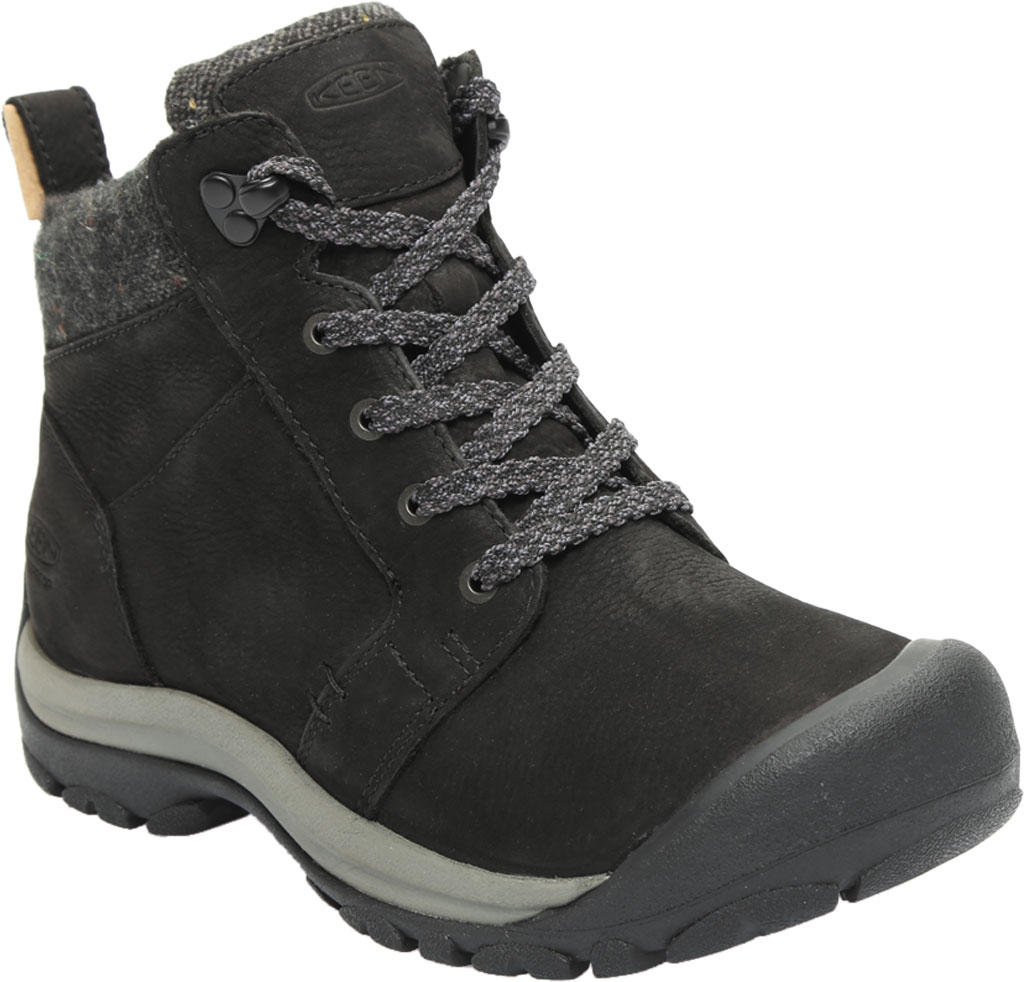Women's KEEN Kaci II Winter Mid Waterproof Boot, Black/Steel Grey, large, image 1