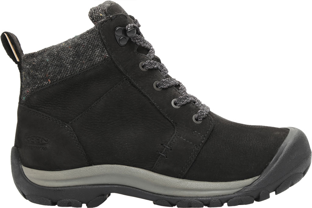 Women's KEEN Kaci II Winter Mid Waterproof Boot, Black/Steel Grey, large, image 2