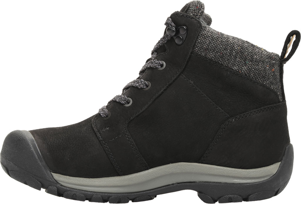 Women's KEEN Kaci II Winter Mid Waterproof Boot, Black/Steel Grey, large, image 3
