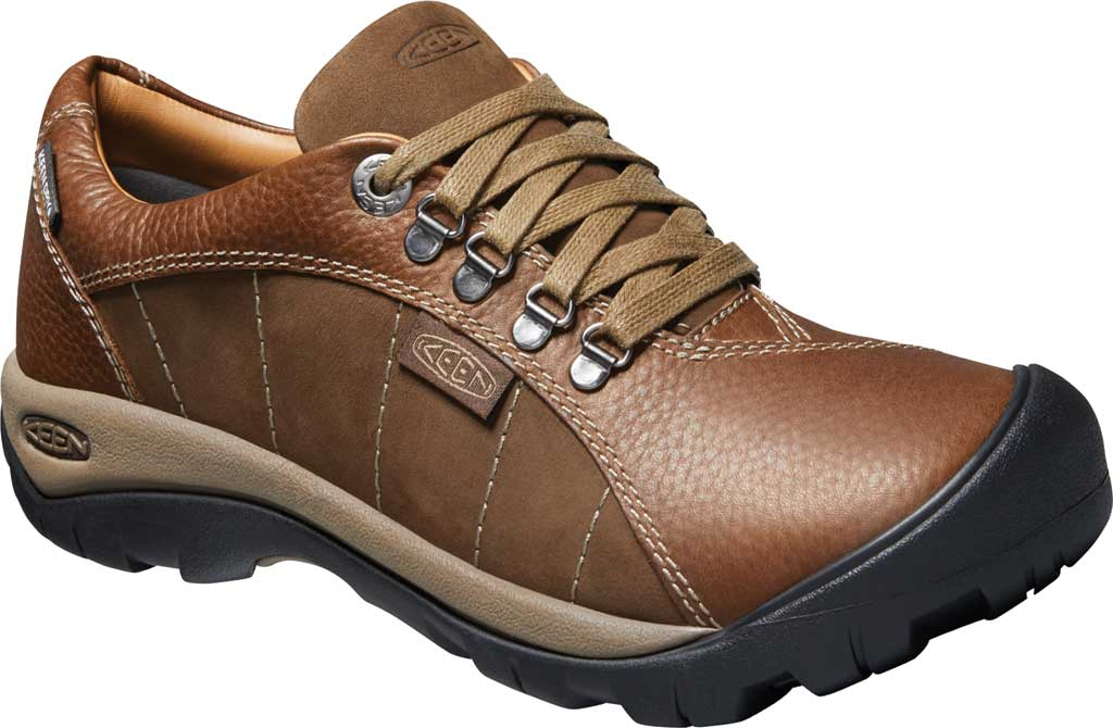 Women's KEEN Presidio Waterproof Sneaker, Cascade/Shitake Brown, large, image 1