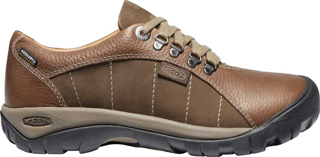 Women's KEEN Presidio Waterproof Sneaker, Cascade/Shitake Brown, large, image 2