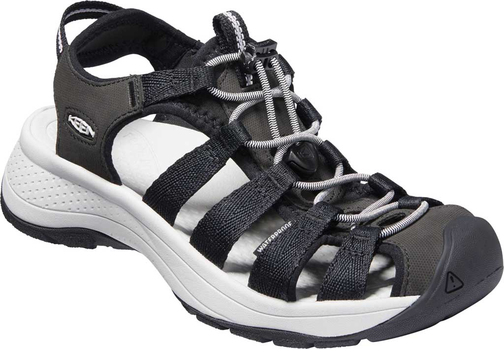 Women's Keen Astoria West Fisherman Sandal, Black/Grey, large, image 1