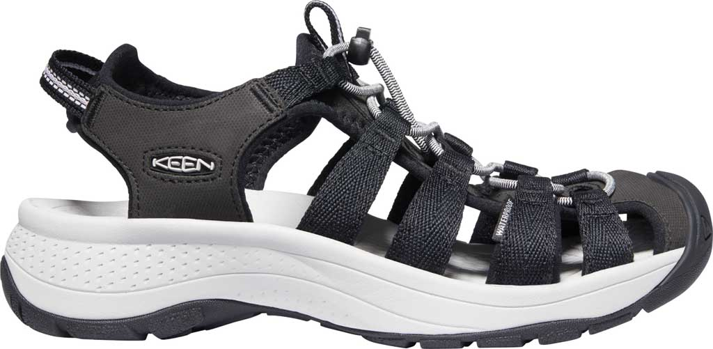 Women's Keen Astoria West Fisherman Sandal, Black/Grey, large, image 2