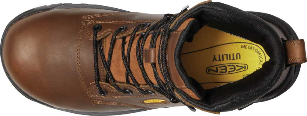 """Men's KEEN Utility Chicago 6"""" Waterproof Soft Toe Work Boot, Tobacco/Black Leather, large, image 3"""