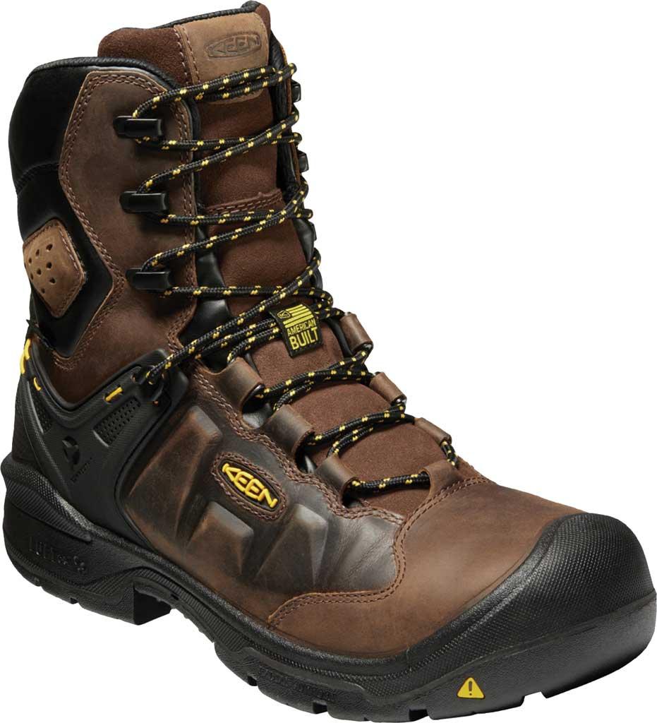 "Men's KEEN Utility Dover 8"" 600G Waterproof Work Boot, Dark Earth/Black Leather, large, image 1"