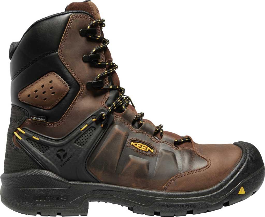 "Men's KEEN Utility Dover 8"" 600G Waterproof Work Boot, Dark Earth/Black Leather, large, image 2"
