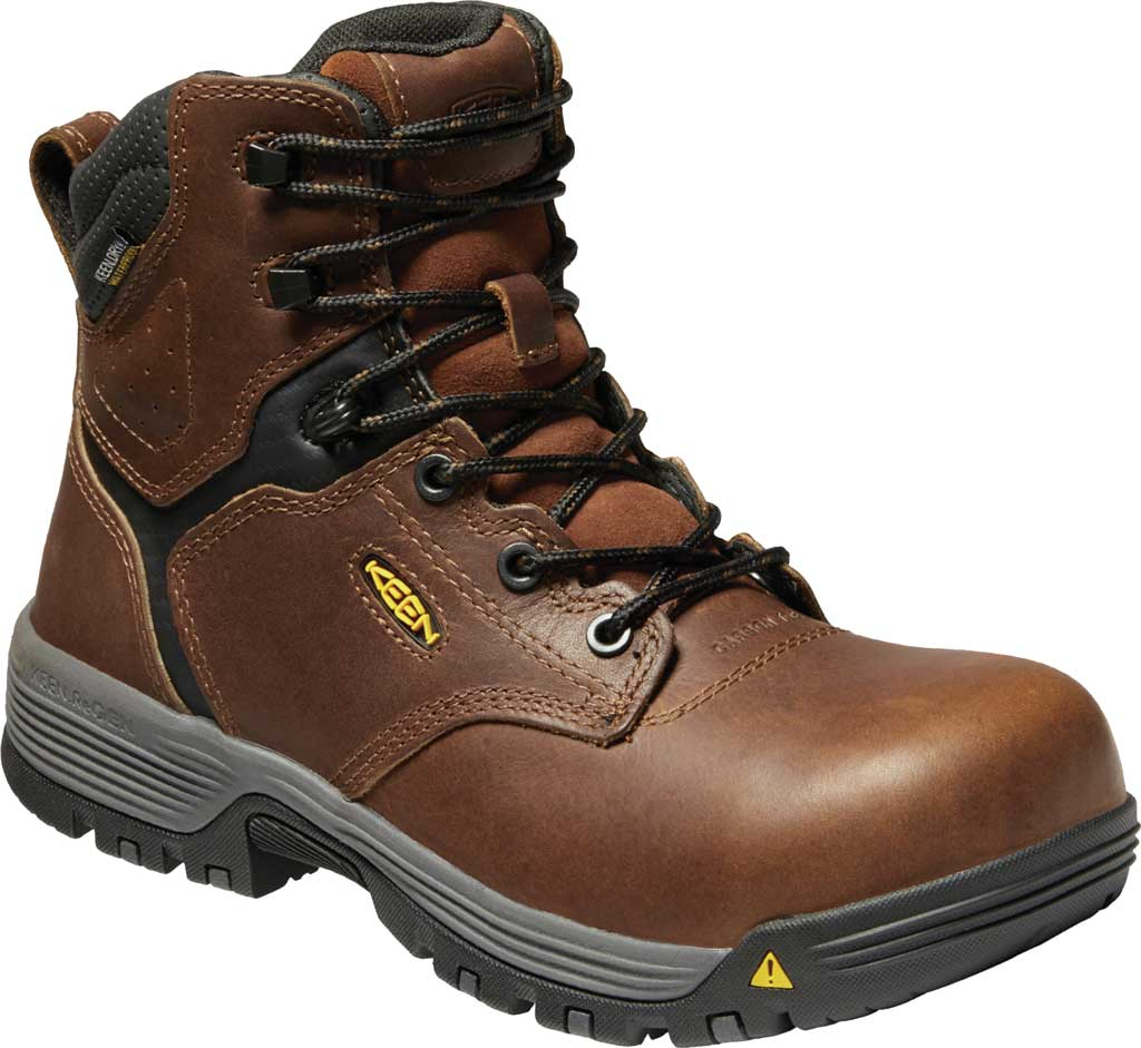 """Women's KEEN Utility Chicago 6"""" Waterproof Work Boot, Tobacco/Black Leather, large, image 1"""
