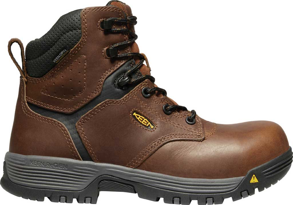 """Women's KEEN Utility Chicago 6"""" Waterproof Work Boot, Tobacco/Black Leather, large, image 2"""