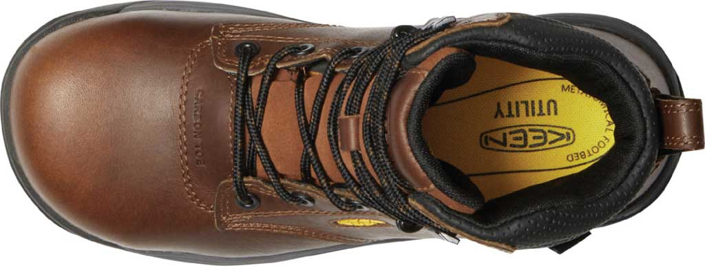 """Women's KEEN Utility Chicago 6"""" Waterproof Work Boot, Tobacco/Black Leather, large, image 3"""