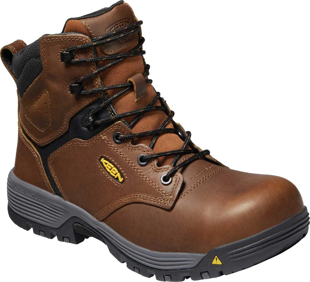"""Men's KEEN Utility Chicago 6"""" ESD Work Boot, Tobacco/Black Leather, large, image 1"""