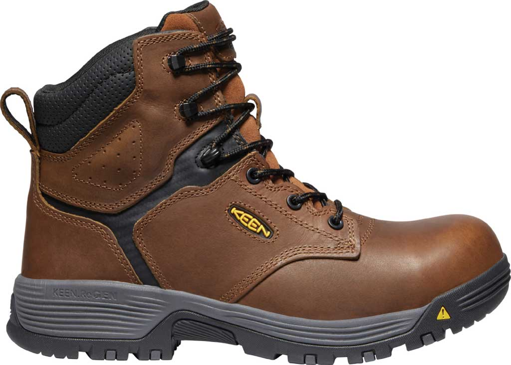 """Men's KEEN Utility Chicago 6"""" ESD Work Boot, Tobacco/Black Leather, large, image 2"""