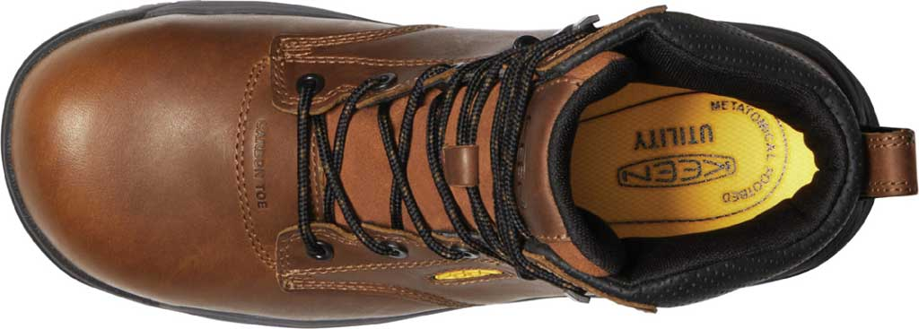 """Men's KEEN Utility Chicago 6"""" ESD Work Boot, Tobacco/Black Leather, large, image 3"""