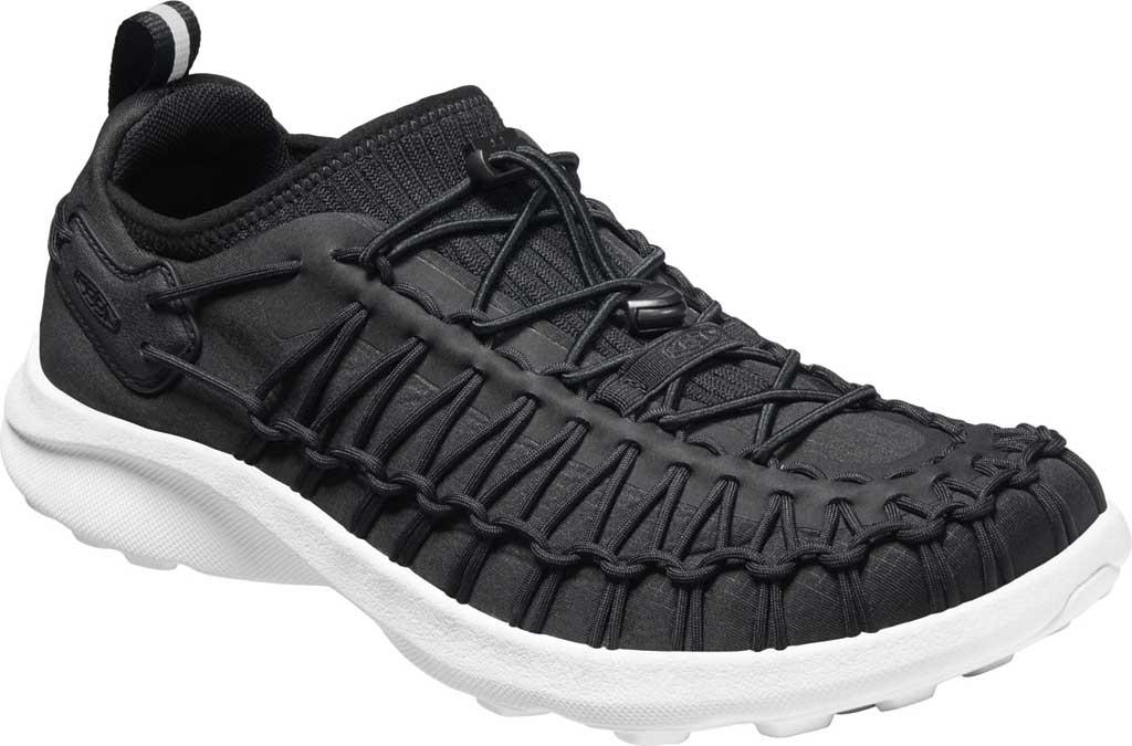 Men's KEEN Uneek SNK Sneaker, Black/Star White, large, image 1