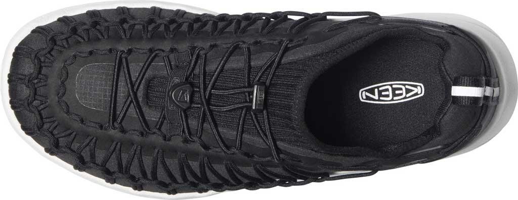 Men's KEEN Uneek SNK Sneaker, Black/Star White, large, image 3