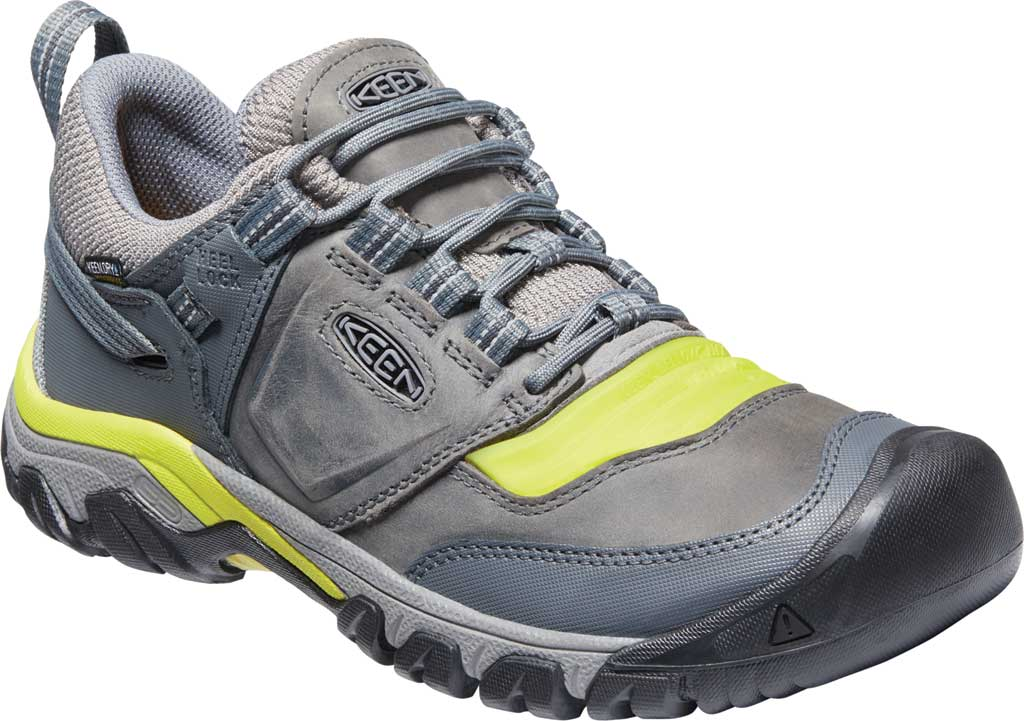 Men's Keen Ridge Flex Waterproof Hiking Sneaker, Steel Grey/Evening Primrose, large, image 1
